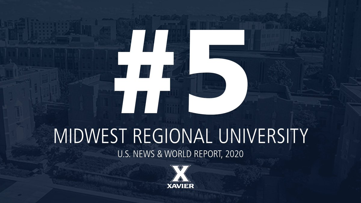 Proud to rank in the top-10 of the @USNews for a 27th consecutive year! 💙⚔️🎓 #BestColleges MORE: xavier.edu/now/2020/us-ne…