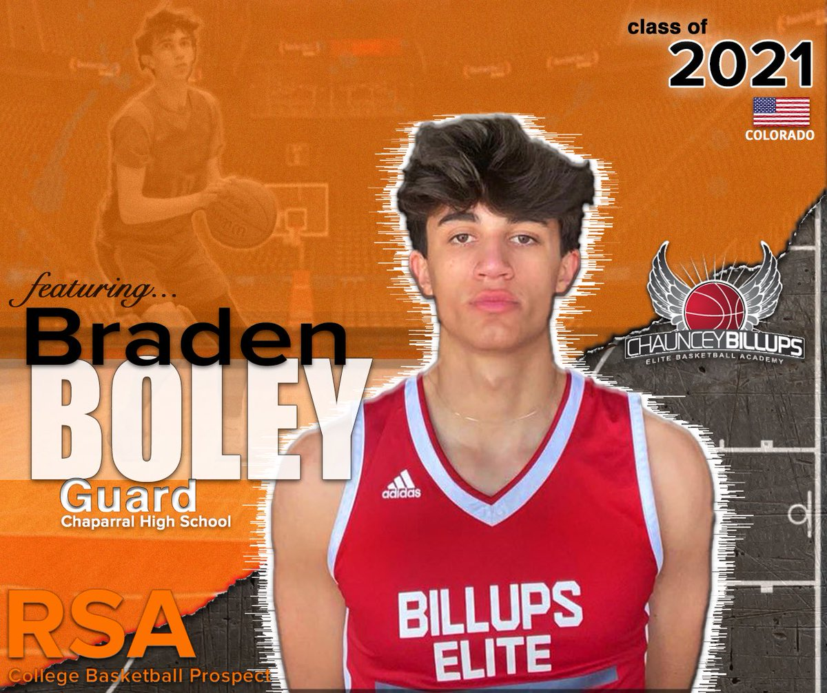 "INTR🏀: 2021 #Basketball prospect PG @Braden_Boley from Colorado, who's 6'3"" 175lbs, plays for 17u @billupselite and has a 3.5GPA (honors) from Chaparral HS. Let's get your recruiting journey started!🏀 #RSAathlete #RSAScouting #NCAAM #D2MBB https://t.co/3mUJaQalvs https://t.co/t4hDG25qmb"