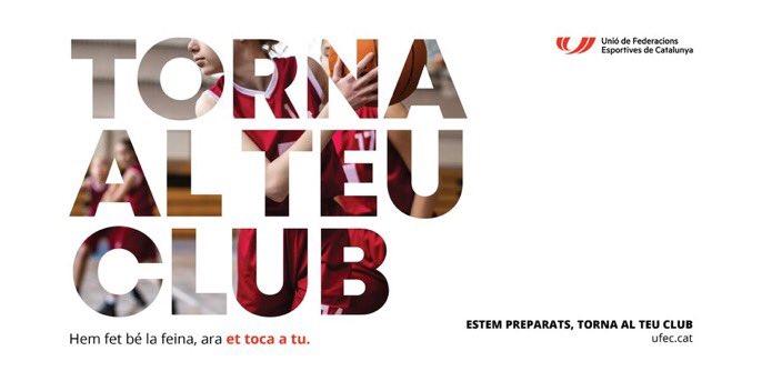 """🎾 TORNA AL TEU CLUB‼️  Clubs i federacions estem preparats.  La @FCatalanaPadel ens adherim a la Campanya INSERsport  ✅ Els Clubs han fet la feina perquè l'esport sigui un espai segur.   """" Estem preparats. Torna al teu Club. """"  #TornaAlTeuClub #somesport #clubs  #pàdel #català https://t.co/5DoXBPnV0b"""