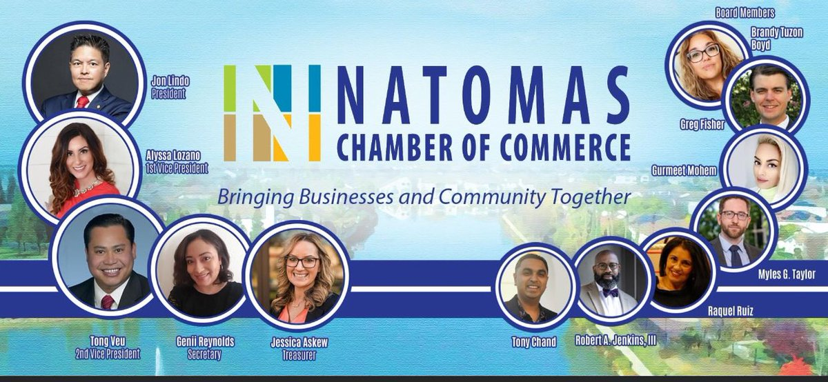 Ladies and gentlemen, we're pleased to introduce you to our 2020 - 2021 Board of Directors of the Natomas Chamber of Commerce. https://t.co/glSX1KqTJN first time in a long time, we have a full Board of Directors. NEW & EXCITING things for our beloved Chamber Members. Stay tuned. https://t.co/SJl1371LIz