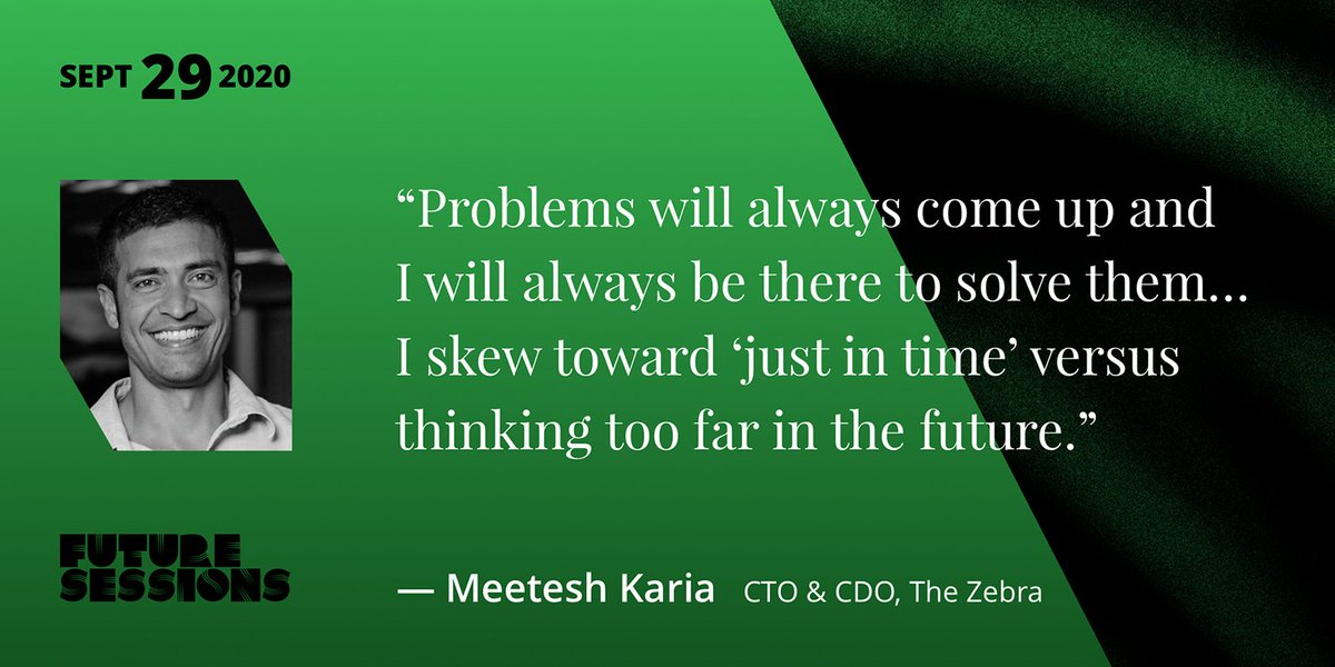 """What is the #future of #mobility? Will car insurance cover flying cars? Meetesh Karia @tesh11, CTO of Austin #startup @TheZebraCo talks #data, #diversity, evolving user #trends, and solving problems """"just in time""""in this week's Future Sessions #interview  https://t.co/KAQ4TeudVF https://t.co/sYIC5PqM4F"""