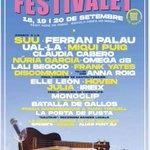 Image for the Tweet beginning: Bon cartell del #festivalet #laculturaestreball