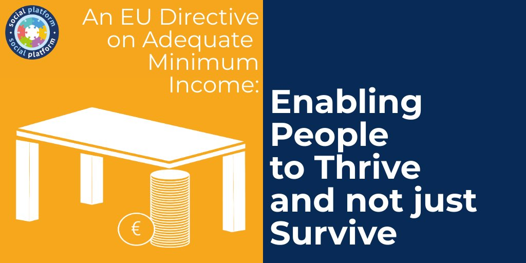 Almost 22% of people live at risk of #poverty in Europe. #COVID19 will mean millions more. We need a binding EU Framework Directive on rights-based, adequate, accessible & enabling #MinimumIncome to tackle poverty & social exclusion! https://t.co/Sz9AddGPcZ