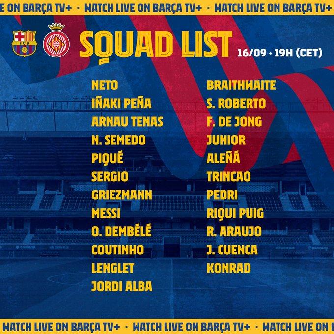 EiCD5KGXcAE-dVV?format=jpg&name=small Luis Suárez fuera de la convocatoria para jugar ante el Girona - Comunio-Biwenger