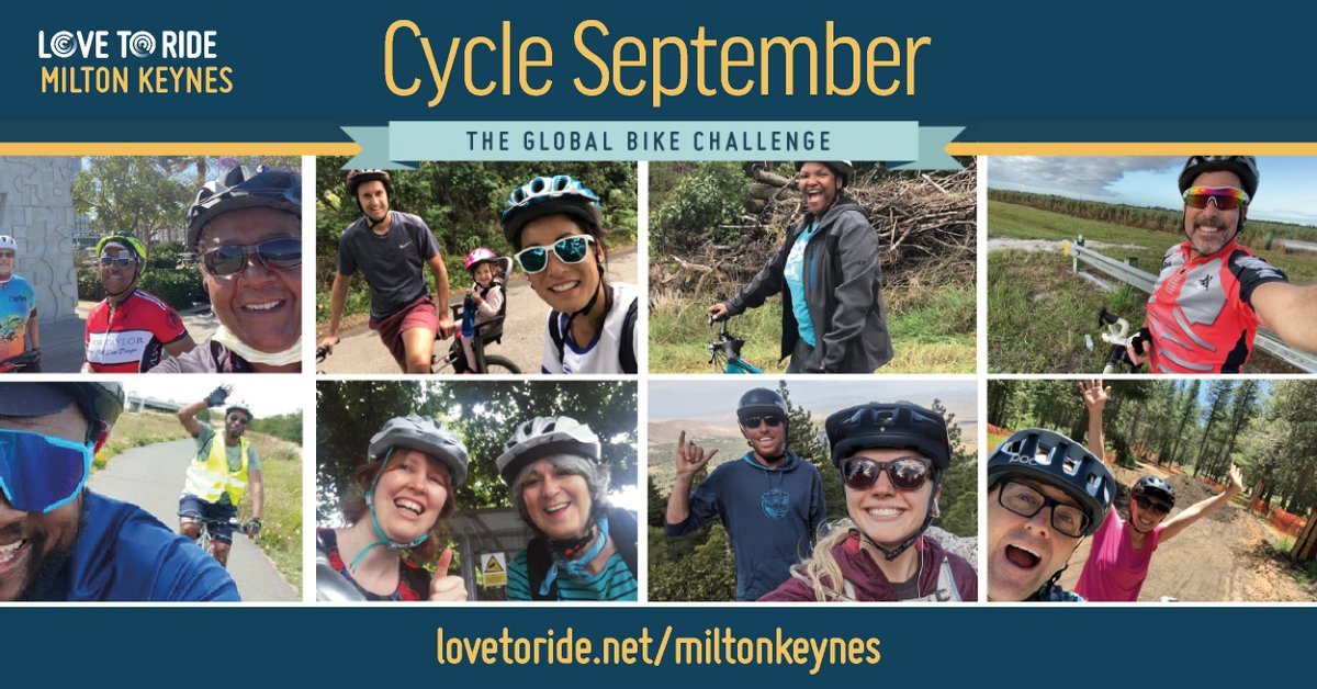#CycleSeptember is your chance to have fun and make a difference. Ride for just 10 minutes a day to win great prizes!  Find out more at https://t.co/4P8gUkJcAA #LoveMK https://t.co/pkuhMofDmb