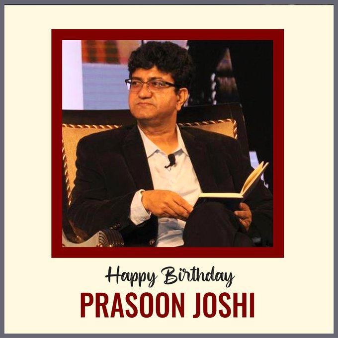 Wishing you a very happy birthday to our most favourite lyricist, Prasoon Joshi Ji.