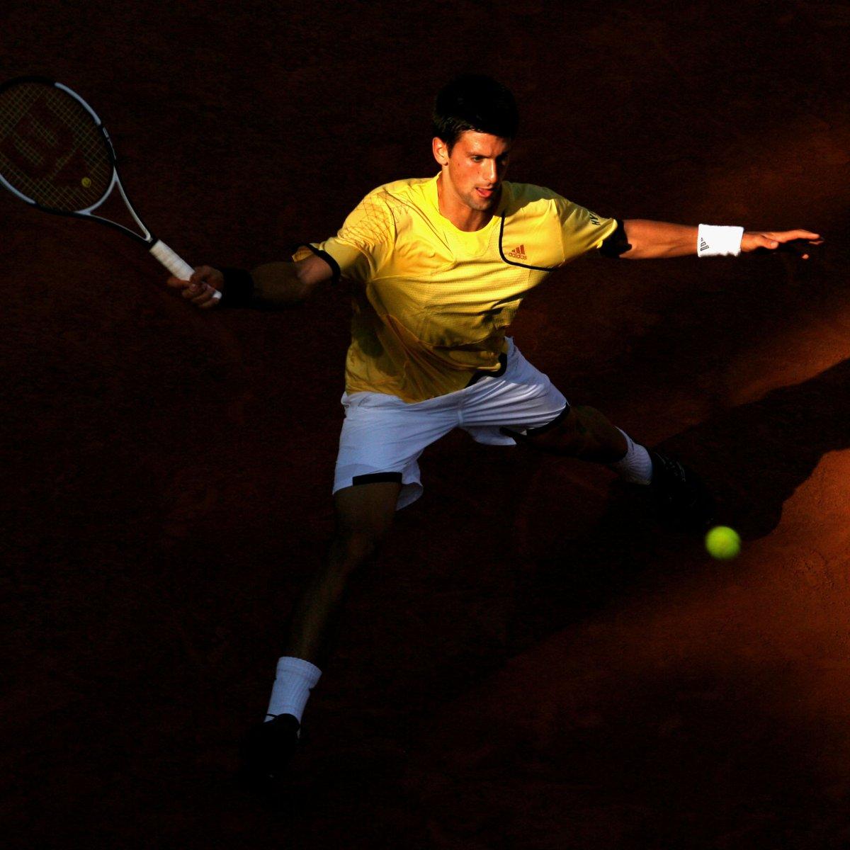 Djokovic 2007 Rome ➡ Djokovic 2020 Rome  Always working for every. single. point. 👏  #IBI20 https://t.co/YpKkykdniM