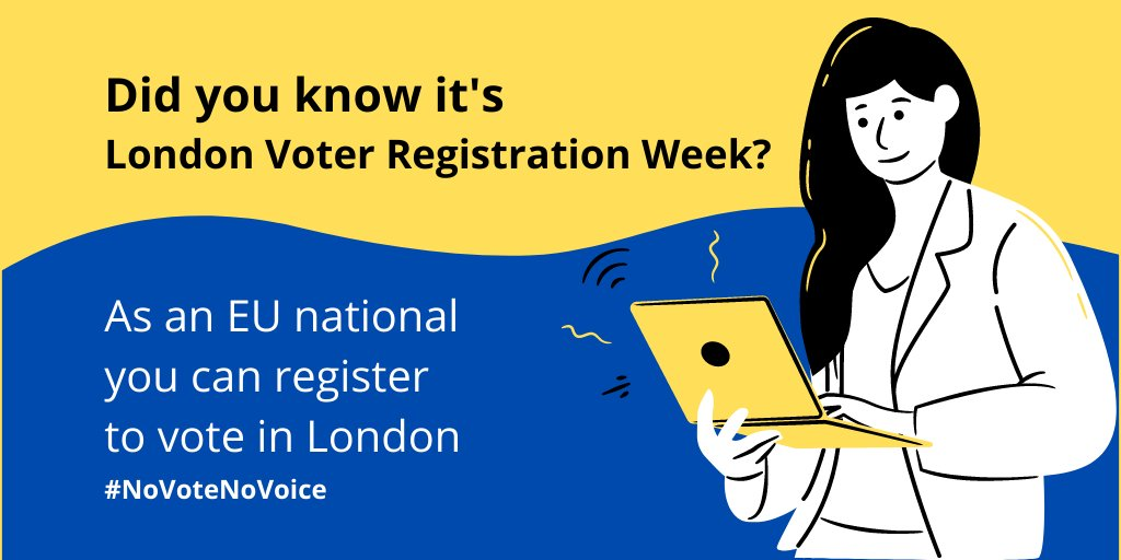 Remember #NoVoteNoVoice Register to vote!