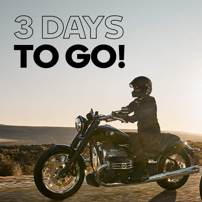 Get ready for the unveil. In 3 days, the new BMW R 18 shows up. Stay tuned!! #MakeLifeARide https://t.co/mQkP9sRnuI