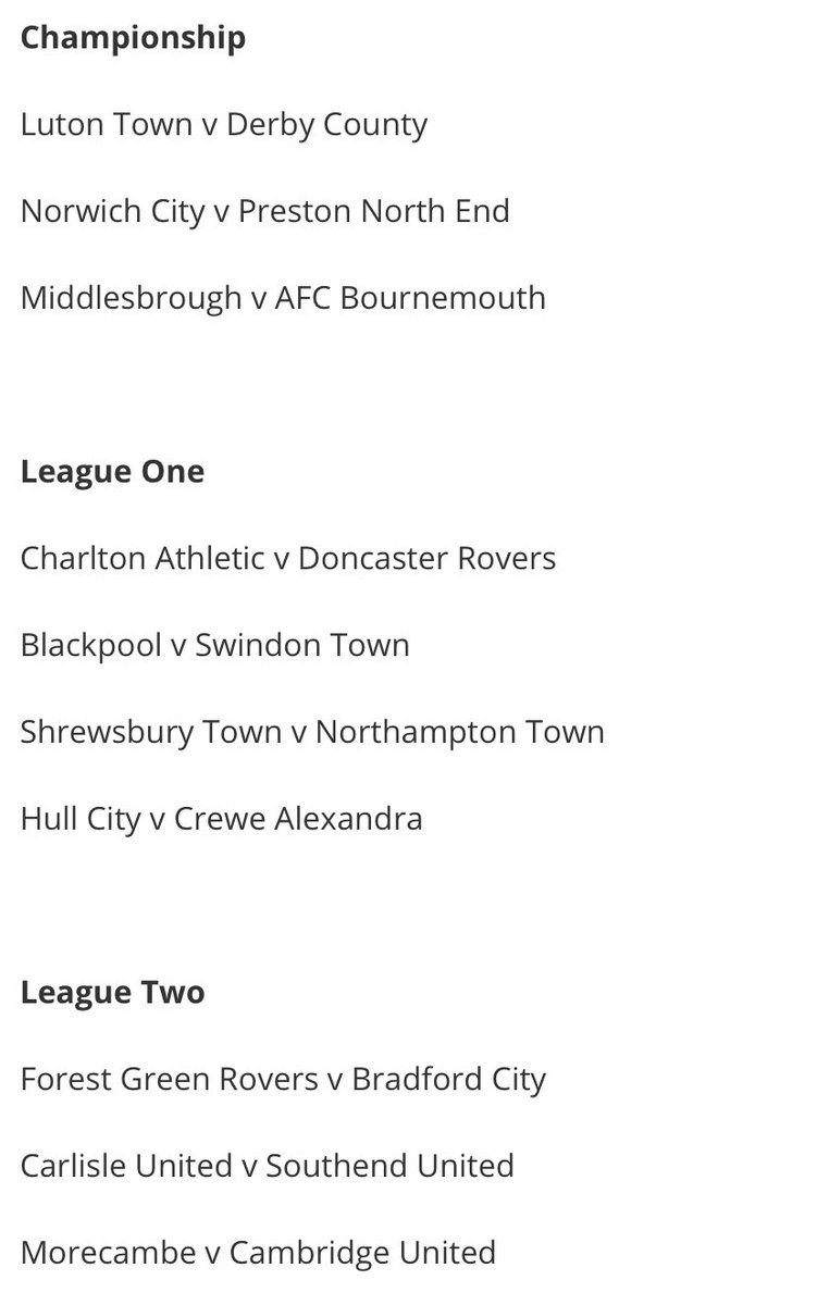 #drfc trip to Charlton on Saturday is one of 10 @EFL games to pilot 1,000 fans this weekend. Sadly for Rovers fans, it's just for home supporters. Here are the 10 games involved in the next step of the 'return of fans' initiative. @footballheaven