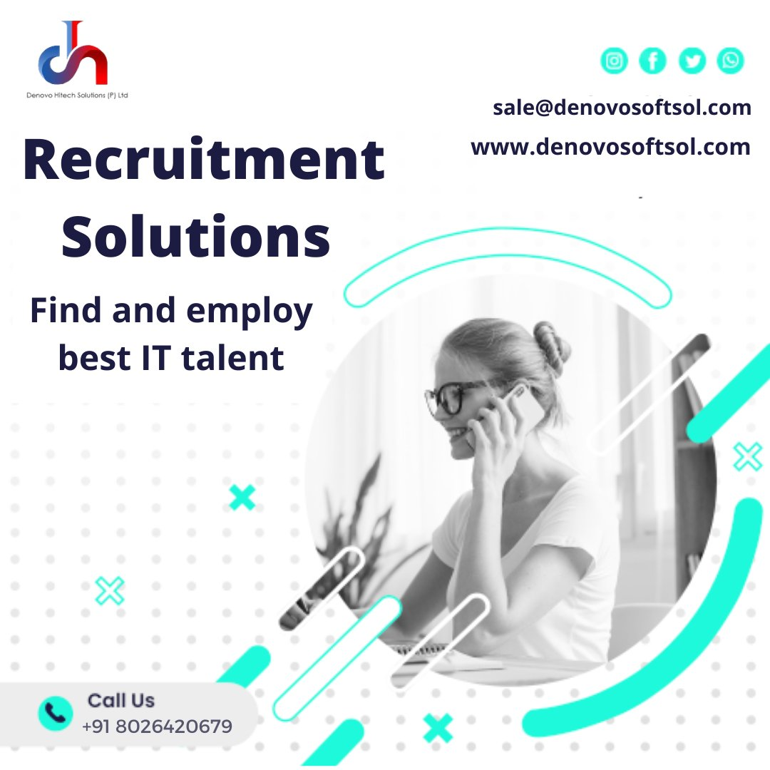 Help you find out and employ the best IT talent for your business.  Please mail your inquiries to sale@denovosoftsol.com Visit us at https://t.co/lyEN2lju4v  #TuesdayMorning #recruitment #recruitmentagency #smallbusiness #cio #networking #futureit #cybersecurity #cyberattacks https://t.co/cXk6qzBkFC