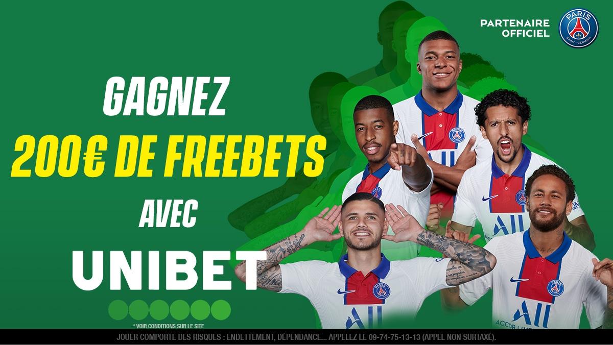 🤑 10 x 20€ de freebets à gagner pour #PSGFCM !   ⚽ Quel sera le score exact du match Paris Saint-Germain 🆚 Metz ?  👉 RT + #FreebetUnibet + Pseudo pour participer.  🔔 Fin du jeu à 21h00. https://t.co/hWa8MHPdxR