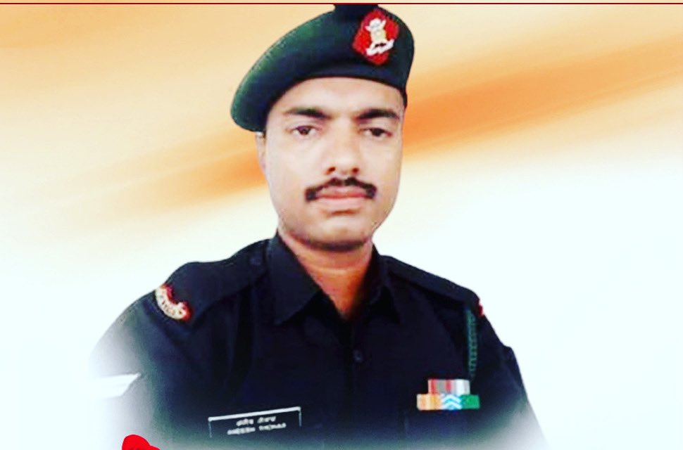 My heartfelt condolences to the family of brave soldier Naik Aneesh Thomas, who made the supreme sacrifice in defence of the nation at Rajouri, Jammu & Kashmir.