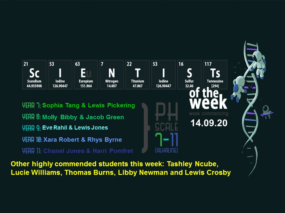 This week's Scientists of the Week! Well done to all these students on their fantastic efforts  @byrchall #scientistoftheweek https://t.co/hznTFX0pZV