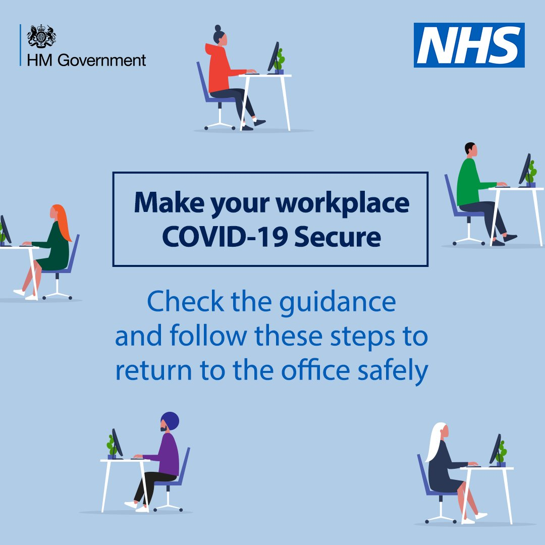 We all have a responsibility to stop the spread of coronavirus.  Make sure your workplace is COVID-19 Secure.  Follow the guidance: https://t.co/Rs9mDH7ooe https://t.co/XstMavPd1l