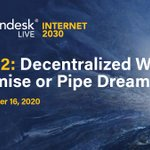 Image for the Tweet beginning: TODAY: Is a decentralized web