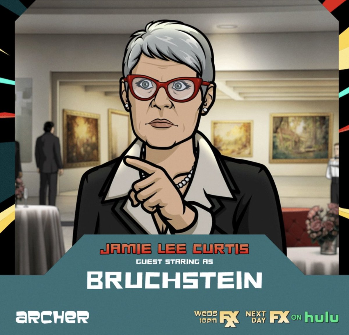 Bucket list ✅ alert! Getting 2 b a character @archerfxx The 11th season of sensational, snappy laugh-out-loud shenanigans starts TONIGHT with TWO back2back episodes. I'm sure @missjudygreer held her @halloweenmovie rifle 2 their heads but however it happened... IT HAPPENED! https://t.co/c6gTulpZ2k