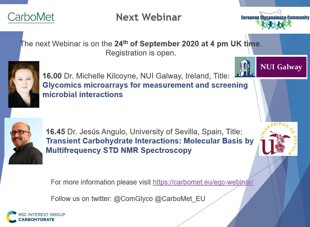 Join us on our next Webinar on analytics in glycoscience. Registration is open: https://t.co/XbXBOu4RBG  For a complete list of upcoming Webinar please visit https://t.co/JliSLIIPhG https://t.co/oMHweNlaMn