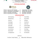 Image for the Tweet beginning: Here are tomorrow's Palmer Cup