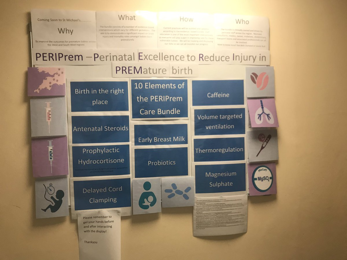 "Our amazing nurse Jenn made this periprem information board- with ""lift the flap"" facilities! (Remember Spot books?!) https://t.co/VfppxOTraP"