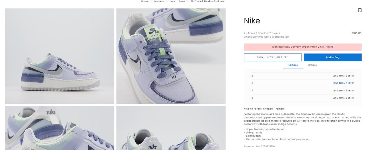 Ballin Sneaks On Twitter Wmns Nike Air Force 1 Shadow World Indigo Sizes Back Up On Office Uk Https T Co Ccnlcmxhxk Air force 1 shadow se ghost world indigo. twitter
