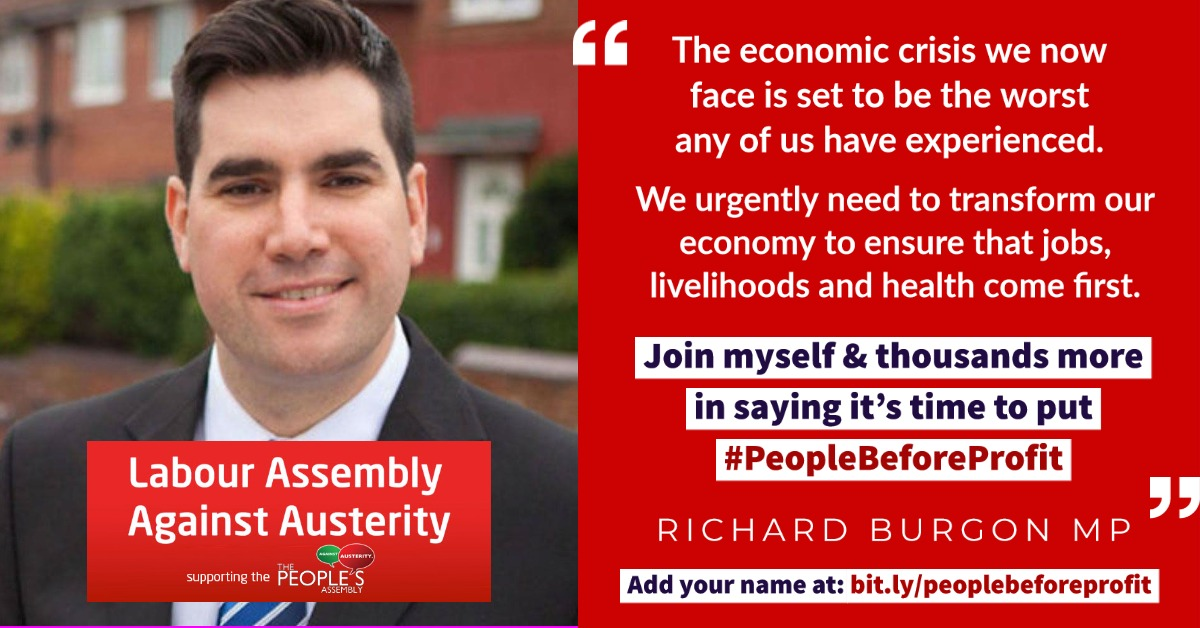 Support a post-pandemic plan that puts #PeopleBeforeProfit ✊  We need your help to put forward a bold economic alternative to Tory neoliberalism & private profiteering. Join @RichardBurgon and thousands of others - add your name here: https://t.co/WLHjQ05gYw https://t.co/4xkSZ5laKq