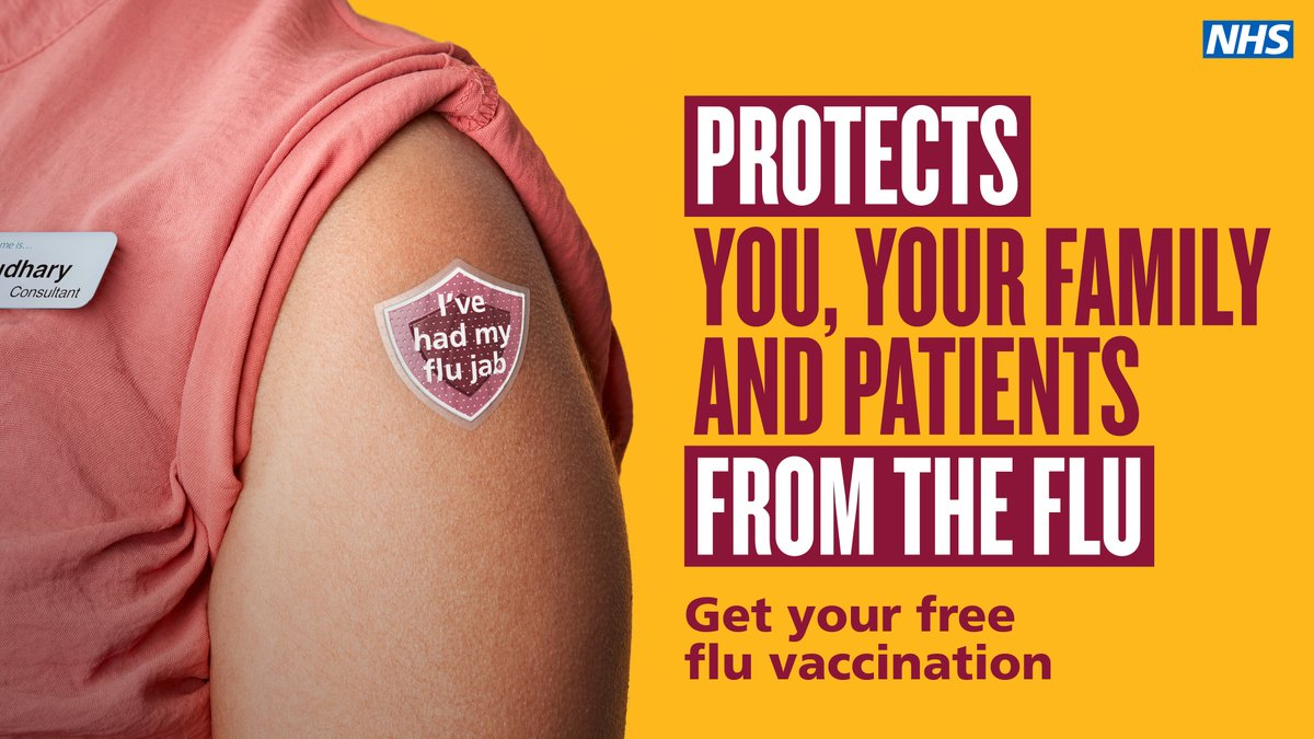 We are encouraging all our members working in @NHSuk to get their flu vaccination this winter. Now more than ever it is important to protect yourself and those close to you. Find out where you can get your free flu vaccination: https://t.co/BpIxjZ1PvG https://t.co/8cfkkVNwaS
