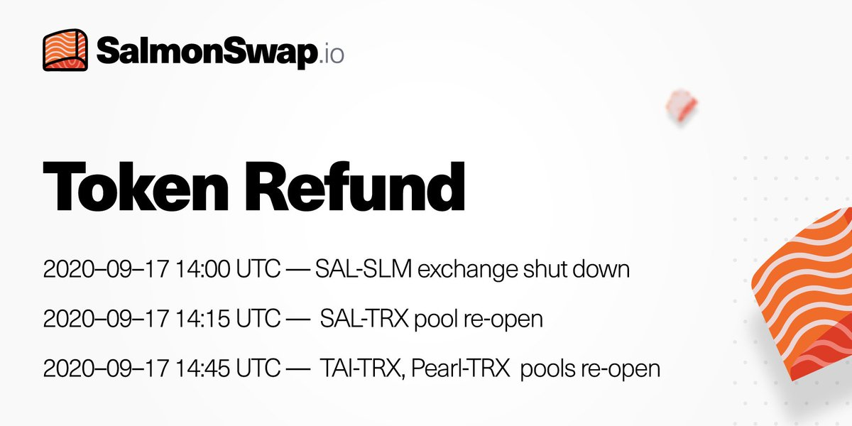 Token Refund For more detailed information, please refer to: medium.com/@TronFi/releas…