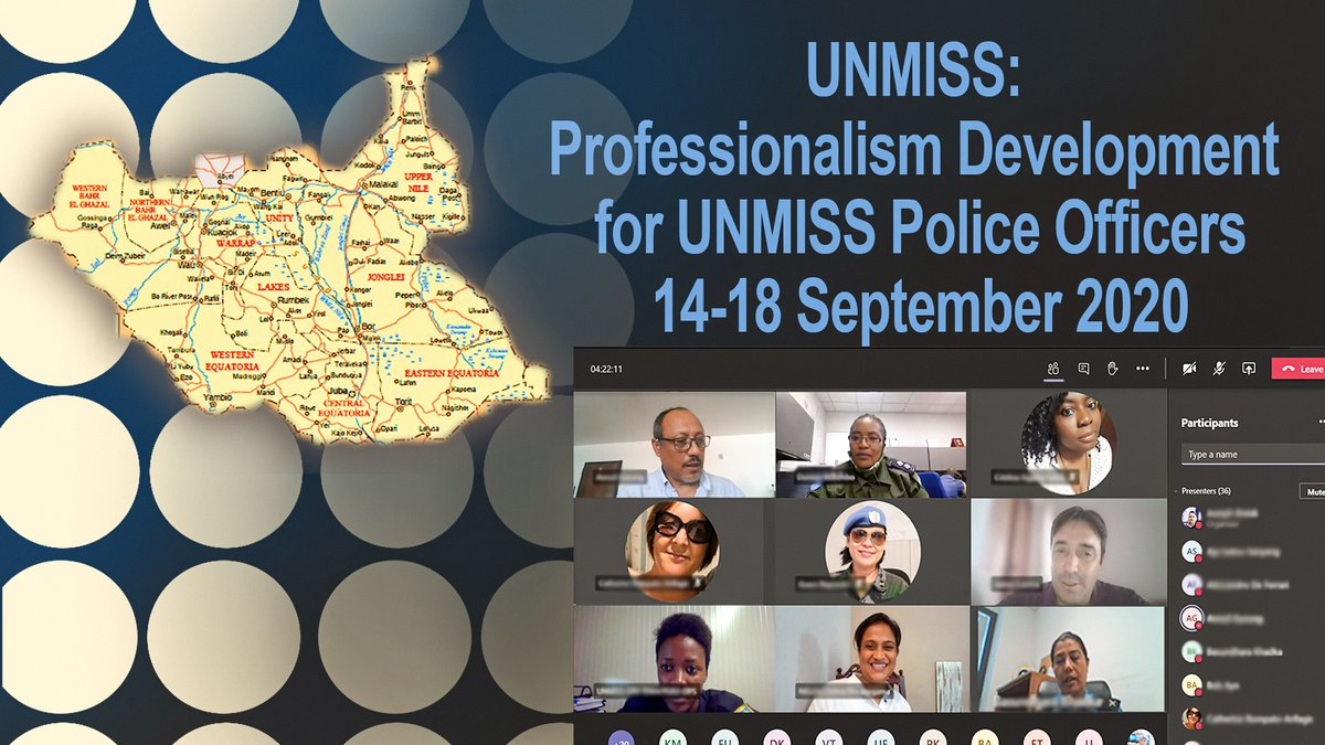 Another virtual workshop was launched this week for Police Officers in #UNMISS, following the success that a similar workshop had last month in MINUSCA. Each event constitutes a pleasant reminder of the diversity & motivation of @UNPOL on the ground. 🇸🇸 #standingpolicecapacity https://t.co/TbimVkNPnr