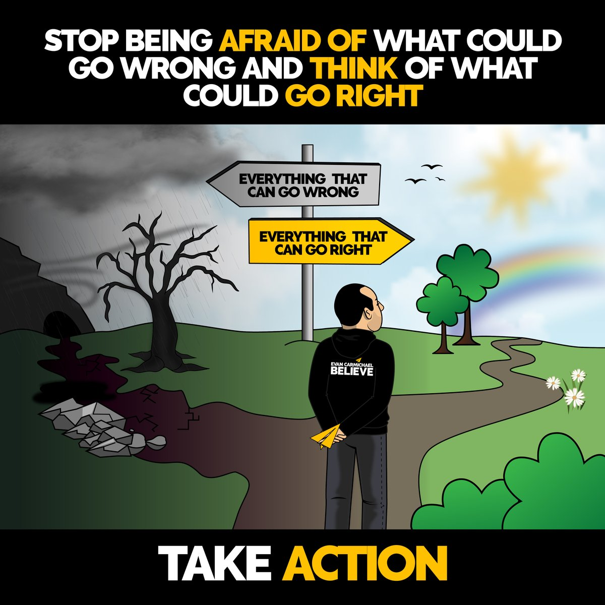 Leave a 💛💛 below if this message spoke to you 👇  Stop being afraid of what could go wrong and think of what could go right.  ______________________________________  #bestadvice #personaldevelopment #takemassiveaction https://t.co/j5peaNvK44