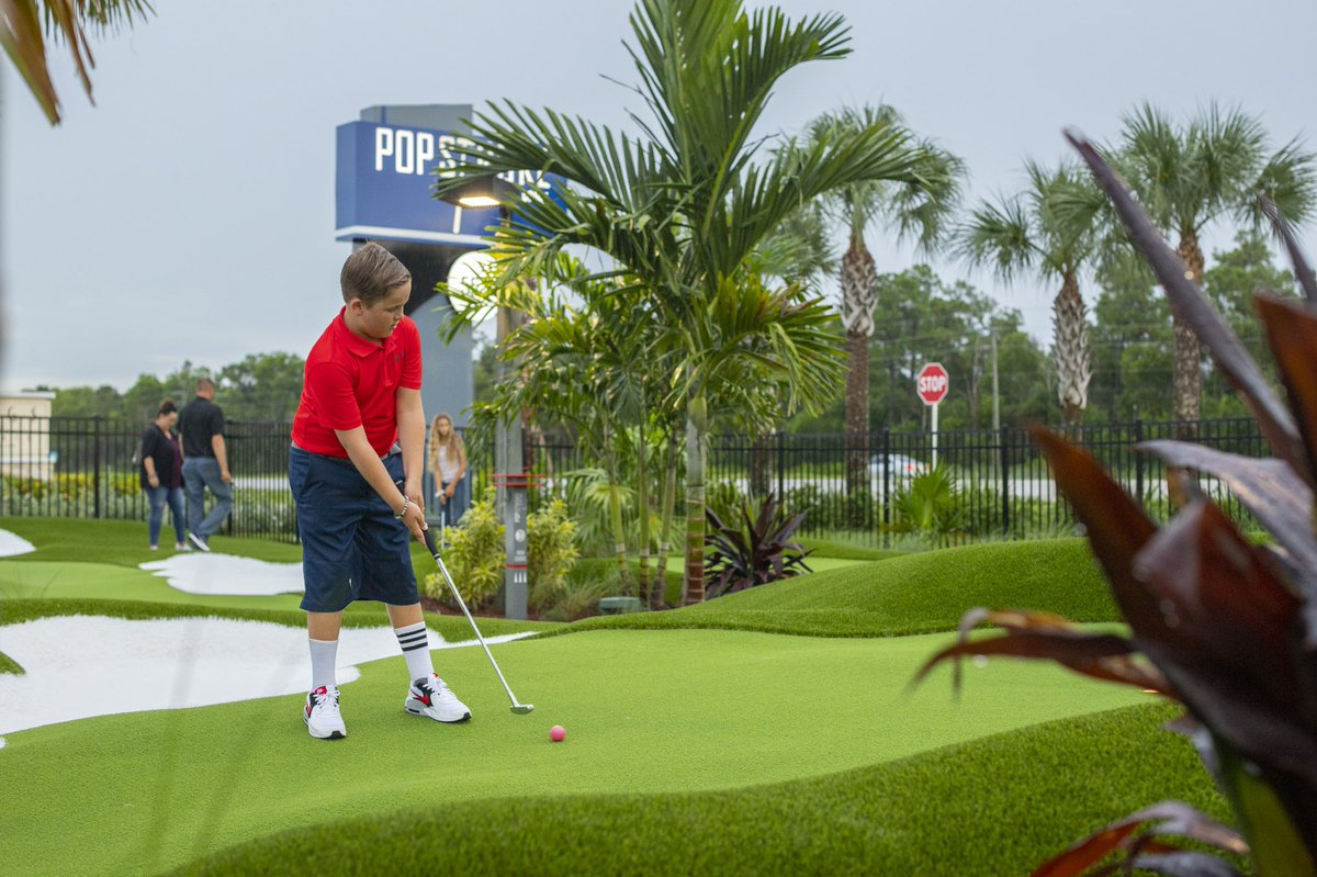 """Our courses at @PopstrokeGolf Ft. Myers are open! """"I am excited to use golf and specifically putting to bring families and friends together. From competitive putting tournaments to kids playing on the playground, PopStroke really does offer something for all ages."""" - @TigerWoods https://t.co/s460U06a8v"""
