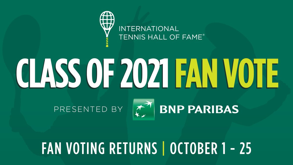 1️⃣-2️⃣-3️⃣ days until it's BACK! 🎉  ITHF Fan Voting presented by @BNPPamericas starts Thursday! Get ready to cast your votes for who you think belongs in the Hall of Fame! #ITHFVote ✅🎾  🇦🇺 Lleyton Hewitt 🇺🇸 Lisa Raymond 🇪🇸 Juan Carlos Ferrero 🇸🇪 Jonas Bjorkman 🇪🇸 Sergi Bruguera https://t.co/f1vqSWZxFX