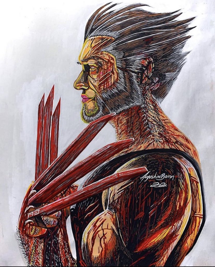 "#Art by Destroyer117 #Wolverine #WolverineWednesday Looking ""sharp"""