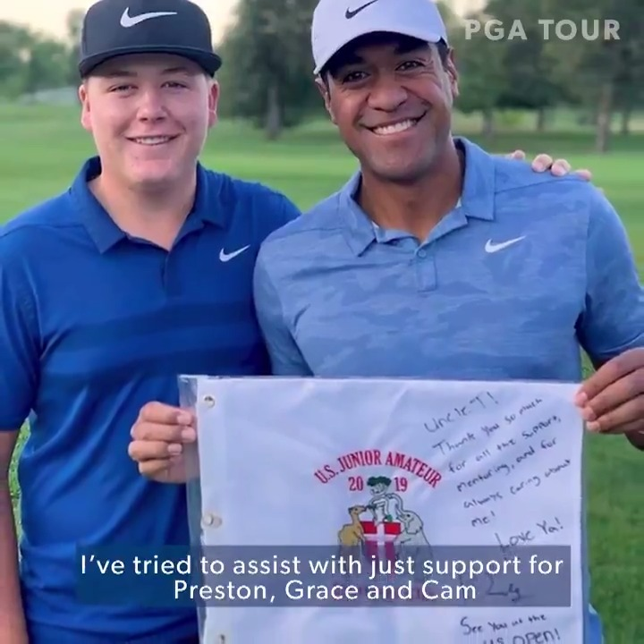 Preston Summerhays and @TonyFinauGolf used to play for milkshakes.🥤  Now, Uncle Tony is welcoming him to the U.S. Open. https://t.co/Cb5n1QUElh
