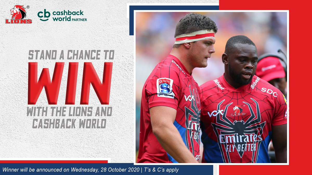 🚨COMPETITION TIME🚨  Join the Lions' Loyalty Programme today and stand a chance to win a Lions Hamper worth R2500! Click here to enter: https://t.co/bus8sI6Bu5  Winner will be announced on Wednesday, 28 October 2020.   T's and C's apply. https://t.co/GQtkm963LG
