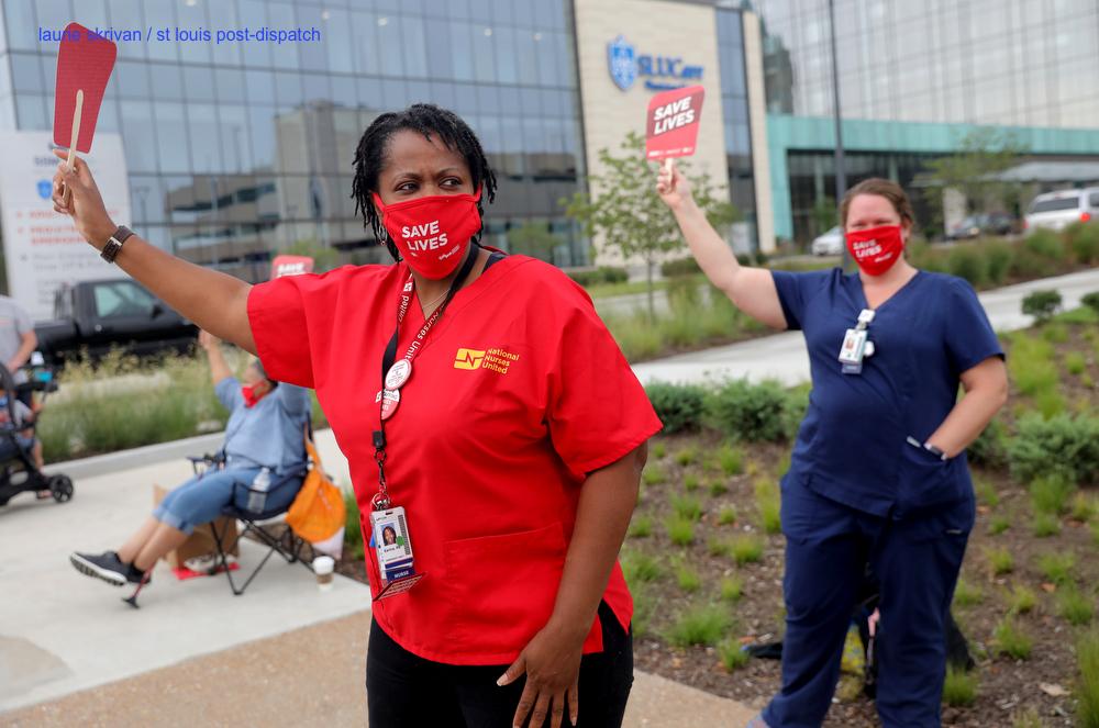 SLU hospital nurses call for better protection, notification in fight against COVID-19 stltoday.com/lifestyles/hea… via @stltoday @annie3mer