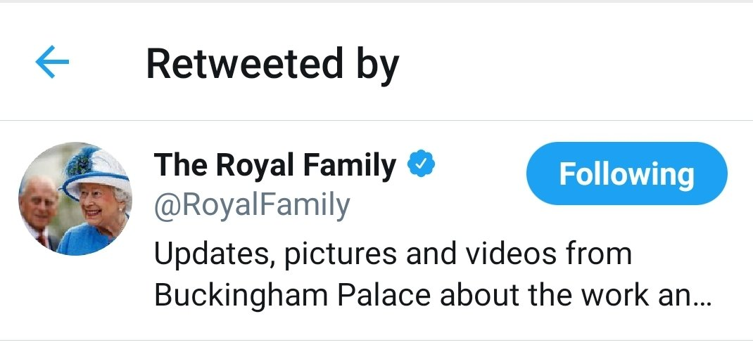 Wondering why my phone is on fire with Twitter notifications and appears that the activities of @ManchesterWI has Royal endorsement 😂