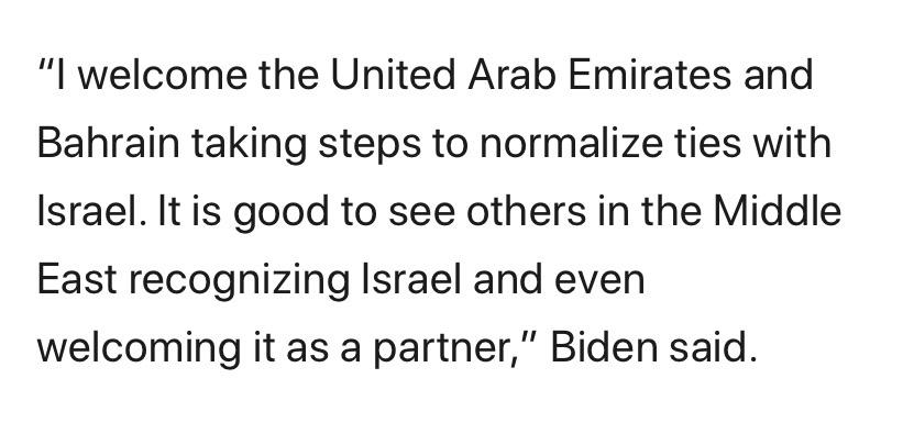 joe-biden-praises-trump-led-israel-uae-bahrain-peace-accords Photo