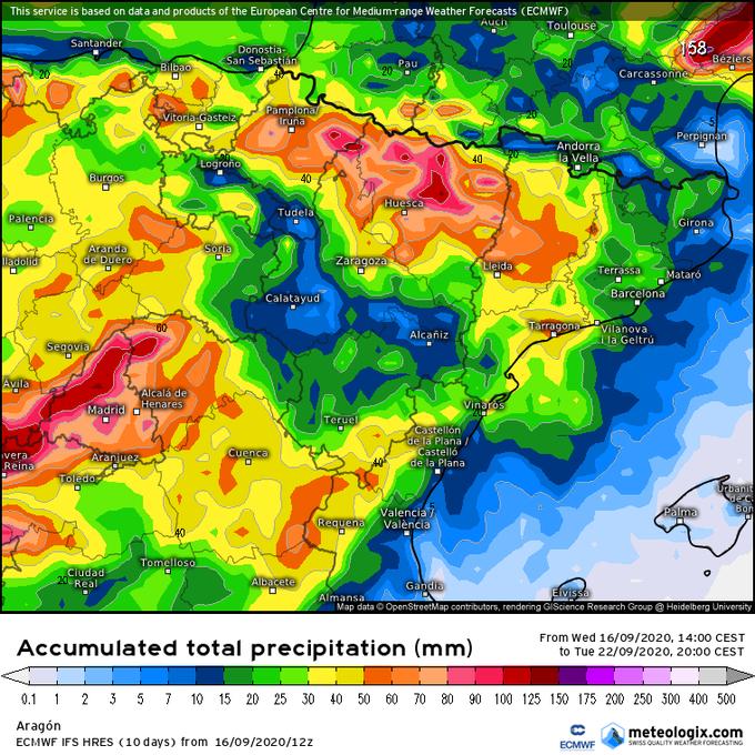 A ver si se cumplen estos mapas de precipitacion que falta hace🌧🌧🌧🌧. El Pirineo esta muy seco.