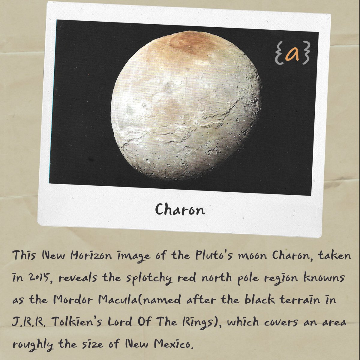 Charon #moon #pluto #newhorizon #northpole #lordoftherings #mordormacula #spacephotos #journalofankit https://t.co/xPsbaqldEa
