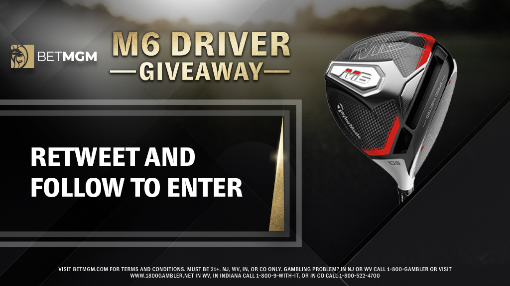 Bomb it down the fairway 🏌️   We're giving one lucky follower a TaylorMade M6 Driver!   To enter:  ☝️ Retweet this tweet  ✌️ Follow @BetMGM   T&Cs: