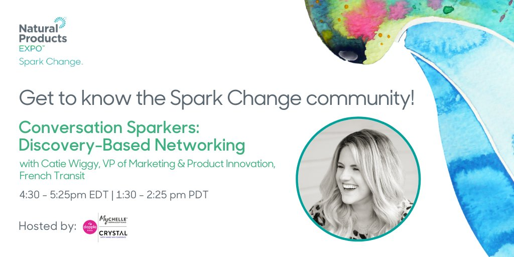 "Just because we're not meeting in person, doesn't mean we can't stay connected. Our networking breakout rooms will connect  Spark Change's PDZ innovators with top influencers and retailers. Join us in 30 min by clicking this event in your ""Agenda"" tab! #SparkChange #MissionDriven https://t.co/iOuSQ8DWYT"