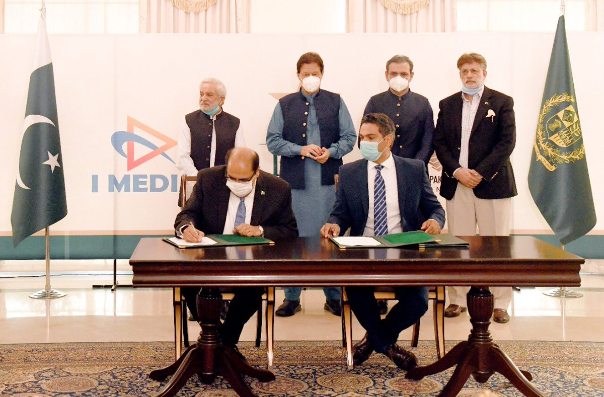 On PMIK's direction, historic milestone in Pakistan's cricket broadcast history.PCB signs MOU with PTV & Cable operators for airing rights of all cricket under PCB in Pakistan. Revenue generated will be spent for promotion of cricket through proper system. #PakistanMovingForward https://t.co/IQa2Gpu5ns