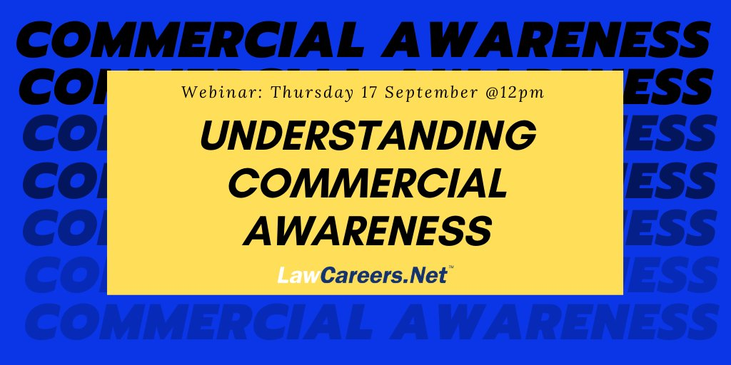 #TeamSPB's Karen French will be taking part in this @LawCareersNetUK webinar on all things #commercialawareness - who's attending?  https://t.co/xNSoh0hDgI  #BeOneOfUs #TraineeLawyer https://t.co/g9syxWGBw2