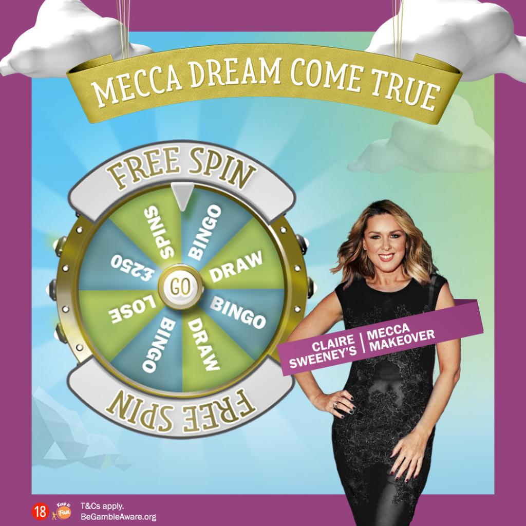 Get a FREE spin every day with our Mecca Dream Come True Free Wheel. You could win cash, bonuses and free spins plus entries to our weekly Mecca Dream Prize Draw to win amazing, money-can't-buy prizes! https://t.co/PFVaKyoet8  T&Cs apply. https://t.co/qt5jMwTRzP