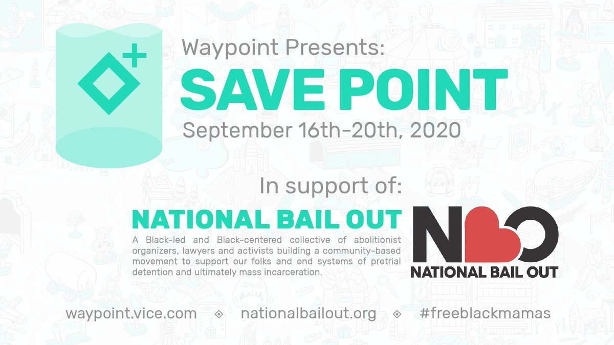 It's SAVEPOINT TIME! Join us to raise money for @NationalBailOut twitch.tv/Waypoint