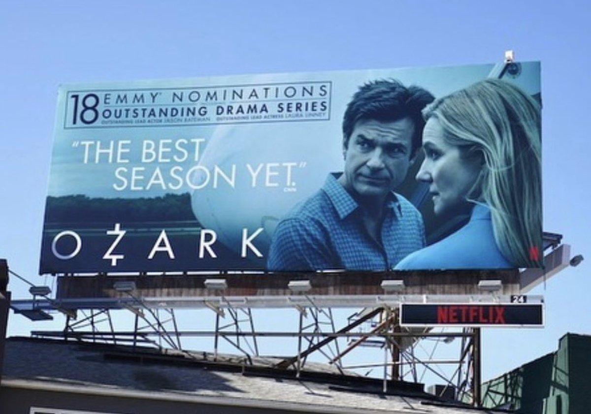 LA ❤️ #ozark #18nominations #ozarkseason3 #emmynominated #allin #LESGO Almost time! #emmys2020 https://t.co/nGvcK0MivF