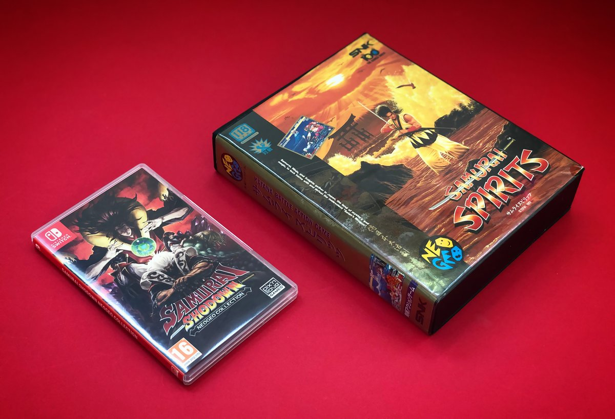 1993 / 2020. Two different eras, cartridge sizes at the antipodes (!), but always the same pleasure! SAMURAI SHODOWN never stops improving with time! So many memories... 😍 @SNKPofficial @DigitalEclipse https://t.co/3dtLpQRv1K