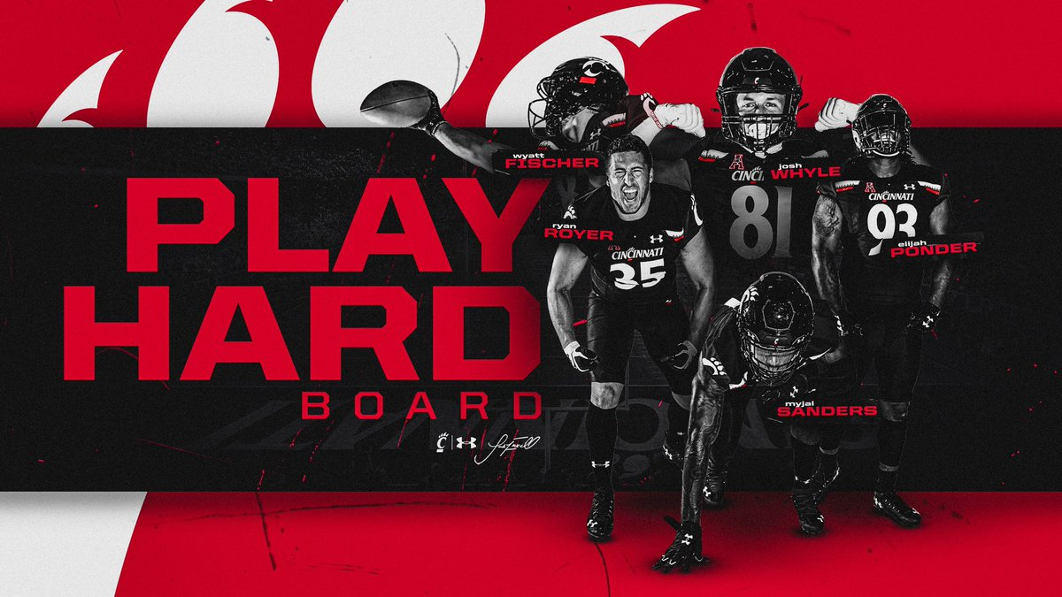 Congrats to these guys on earning the highest honor within our program!  #Bearcats | #TEAM https://t.co/Sm2Xz2Nqsp https://t.co/LYkGJFbi25