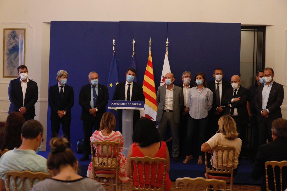 La @FedeTourisme06 et son président @DenisCippolini  étaient présent au plan de relance economique De @MetropoleNCA aux côtés de @cestrosi